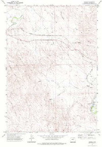 7.5' Topo Map of the Arvada, WY Quadrangle