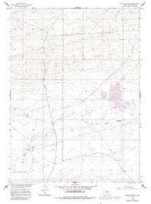 7.5' Topo Map of the Battle Spring, WY Quadrangle