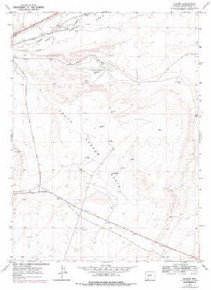 7.5' Topo Map of the Baxter, WY Quadrangle