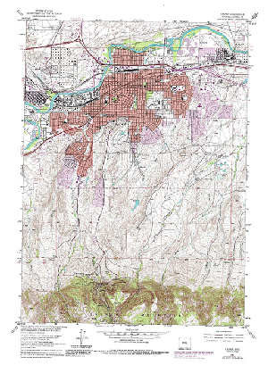 Topographic Map Downloads.7 5 Topo Map Of The Casper Wy Quadrangle Wsgs Product Sales