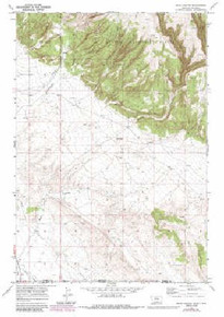7.5' Topo Map of the Bear Canyon, MT Quadrangle