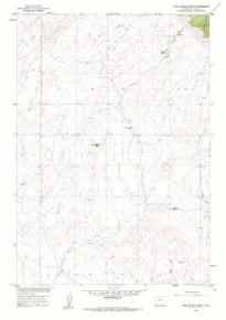 7.5' Topo Map of the Bear Creek Ranch, WY Quadrangle