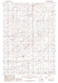 7.5' Topo Map of the Bear Creek, WY Quadrangle