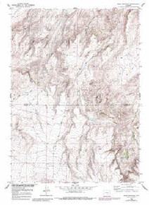 7.5' Topo Map of the Bear Mountain, WY Quadrangle