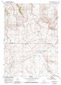 7.5' Topo Map of the Bear Spring, WY Quadrangle