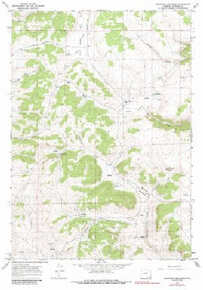 7.5' Topo Map of the Beartrap Meadows, WY Quadrangle
