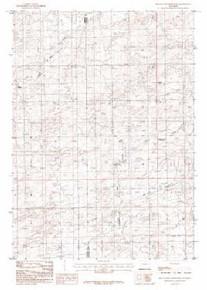7.5' Topo Map of the Beauchamp Reservoir, WY Quadrangle