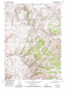 7.5' Topo Map of the Beaver Creek, WY Quadrangle