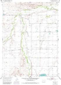 7.5' Topo Map of the Hightower, WY Quadrangle
