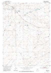 7.5' Topo Map of the Hiland, WY Quadrangle