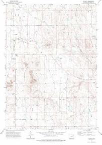7.5' Topo Map of the Hilight, WY Quadrangle