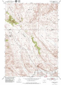 7.5' Topo Map of the Hillberry Rim, WY Quadrangle