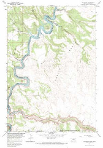7.5' Topo Map of the Hillsboro, MT Quadrangle