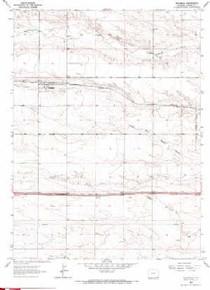 7.5' Topo Map of the Hillsdale, WY Quadrangle