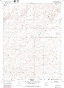 7.5' Topo Map of the Hirsig Ranch, WY Quadrangle