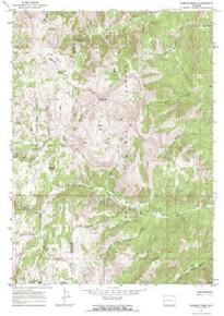 7.5' Topo Map of the Hoback Peak, WY Quadrangle