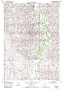 7.5' Topo Map of the Hoe Ranch, WY Quadrangle