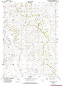 7.5' Topo Map of the Hole-In-The-Wall, WY Quadrangle