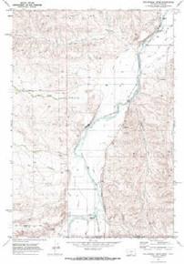7.5' Topo Map of the Hollenbeck Draw, MT Quadrangle
