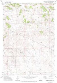 7.5' Topo Map of the Homestead Draw SW, WY Quadrangle
