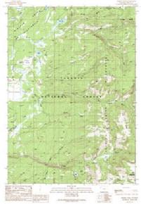 7.5' Topo Map of the Hominy Peak, WY Quadrangle