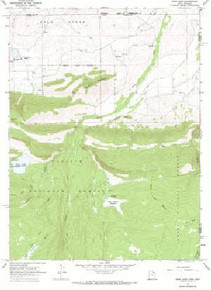 7.5' Topo Map of the Hoop Lake, UT Quadrangle