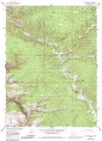 7.5' Topo Map of the Horatio Rock, WY Quadrangle