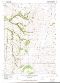 7.5' Topo Map of the Horse Butte, WY Quadrangle