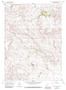 7.5' Topo Map of the Horse Creek Springs, WY Quadrangle