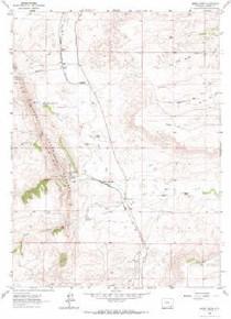 7.5' Topo Map of the Horse Creek, WY Quadrangle