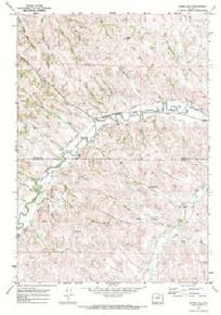 7.5' Topo Map of the Horse Hill, WY Quadrangle