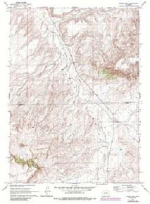 7.5' Topo Map of the Horse Peak, WY Quadrangle
