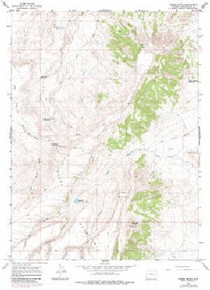 7.5' Topo Map of the Horse Ranch, WY Quadrangle