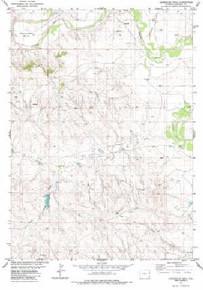 7.5' Topo Map of the Horseshoe Bend, WY Quadrangle