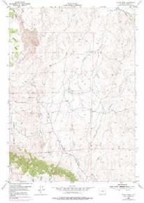 7.5' Topo Map of the House Creek, WY Quadrangle