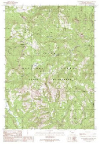 7.5' Topo Map of the Huckleberry Mountain, WY Quadrangle