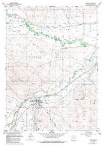 7.5' Topo Map of the Hudson, WY Quadrangle