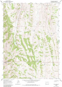 7.5' Topo Map of the Huff Lake, WY Quadrangle