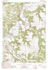 7.5' Topo Map of the Hulett, WY Quadrangle