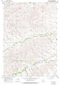 7.5' Topo Map of the Hultz Draw, WY Quadrangle