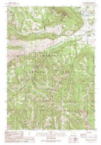 7.5' Topo Map of the Hunter Peak, WY Quadrangle