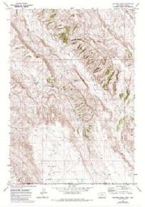 7.5' Topo Map of the Hunters Creek, MT Quadrangle