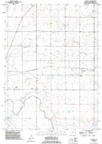7.5' Topo Map of the Huntley, WY Quadrangle
