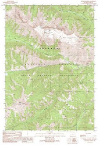 7.5' Topo Map of the Hurricane Mesa, WY Quadrangle