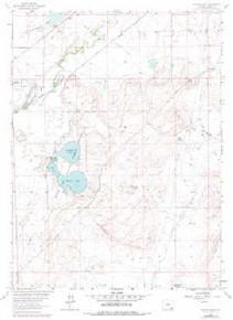 7.5' Topo Map of the Hutton Lake, WY Quadrangle