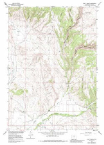 7.5' Topo Map of the Hyatt Ranch, WY Quadrangle