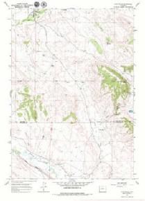 7.5' Topo Map of the Hyattville, WY Quadrangle