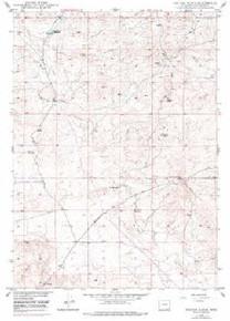 7.5' Topo Map of the Hylton Ranch, WY Quadrangle