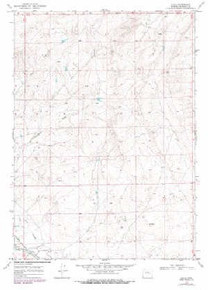 7.5' Topo Map of the Illco, WY Quadrangle