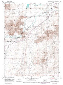 7.5' Topo Map of the Independence Rock, WY Quadrangle